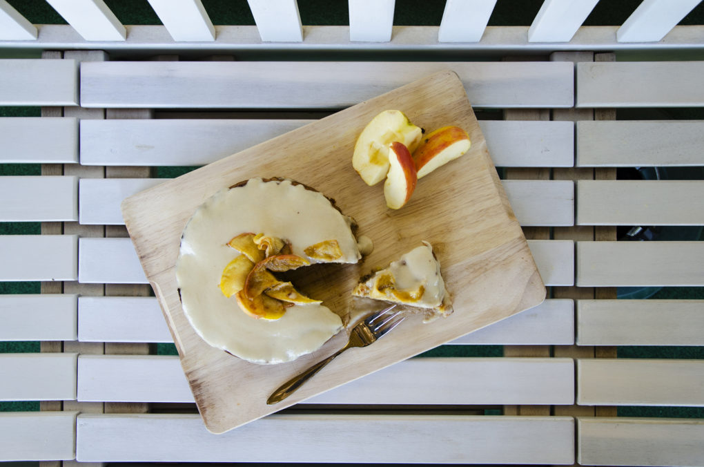 Apfel-Karamell-Kuchen oben