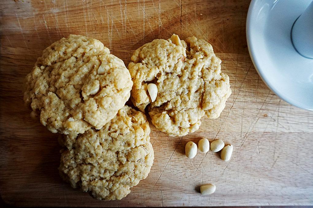 Vegane Kekse mit Erdnuss