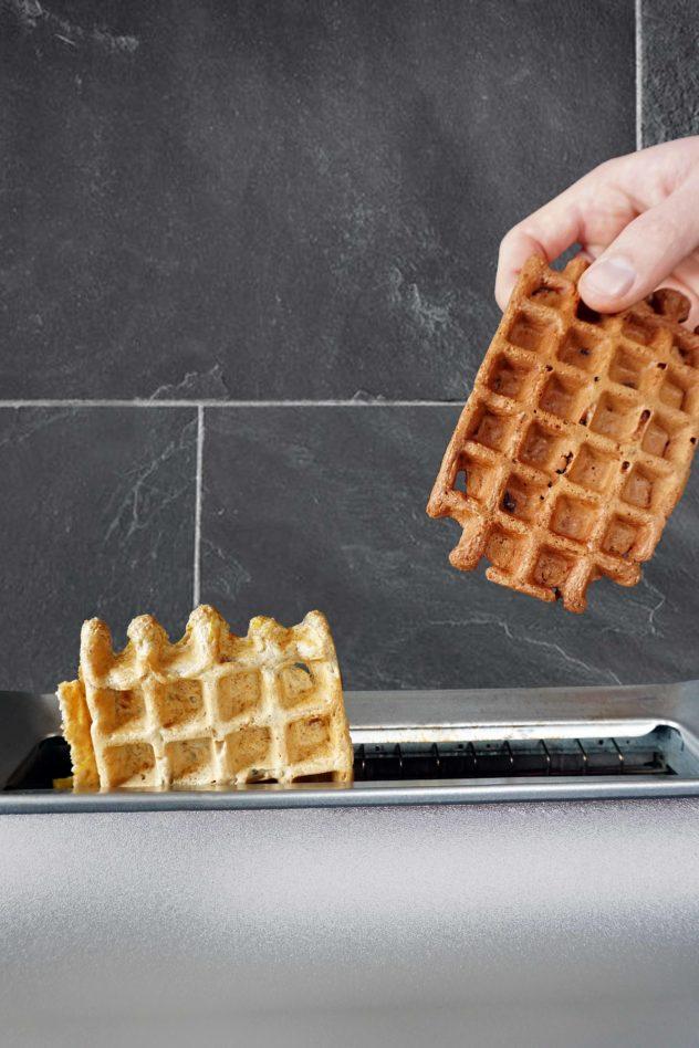 Toaster-Waffeln als schnelles Frühstück zum Mitnehmen
